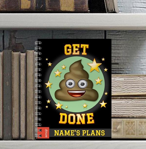 Emoji Personalised Notebook - Get Poo Done