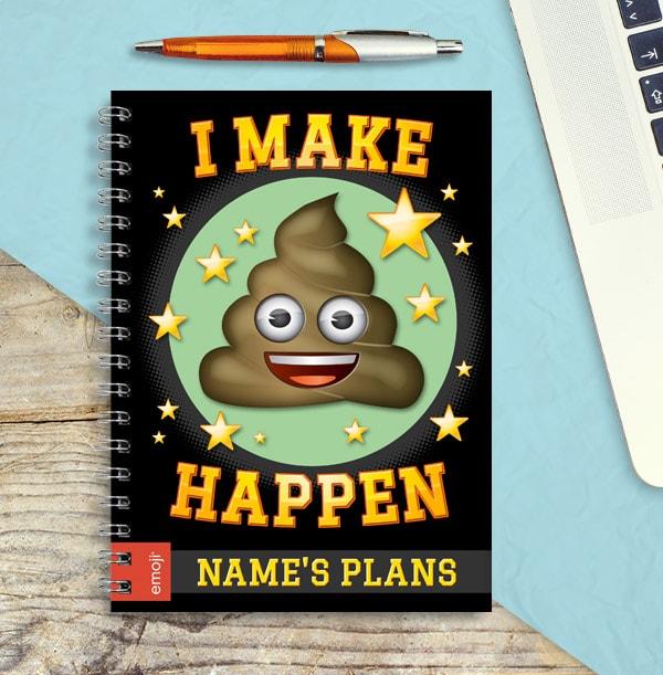 Emoji Personalised Notebook - I Make Poo Happen
