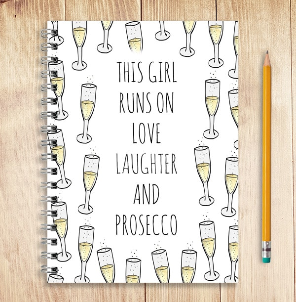 Prosecco Notebook, Personalised