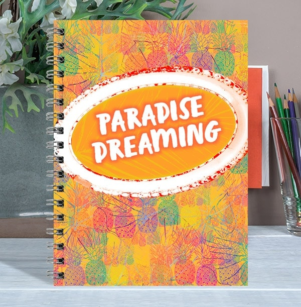 Tropical Personalised Notebook, Paradise Dreaming