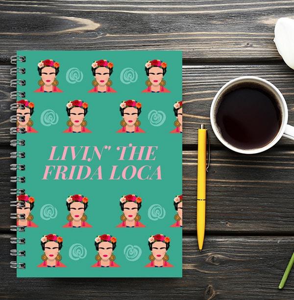 Frida Loca Personalised Notebook