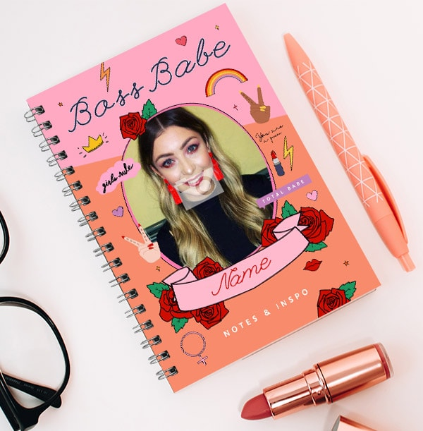 Boss Babe Personalised Photo Notebook - Notes & Inspo
