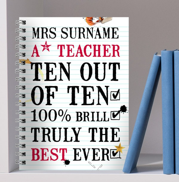 A* Personalised Teacher Notebook