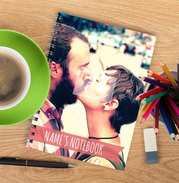 Full Photo Romantic Personalised Name Notebook