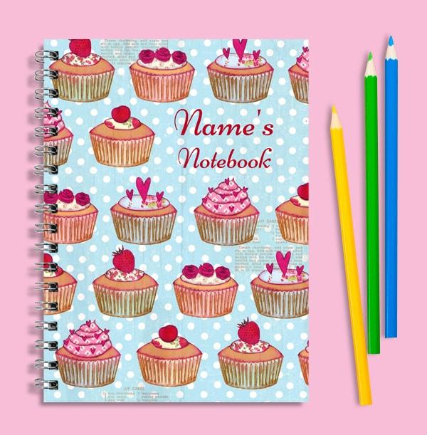 Personalised Cupcake Notebook