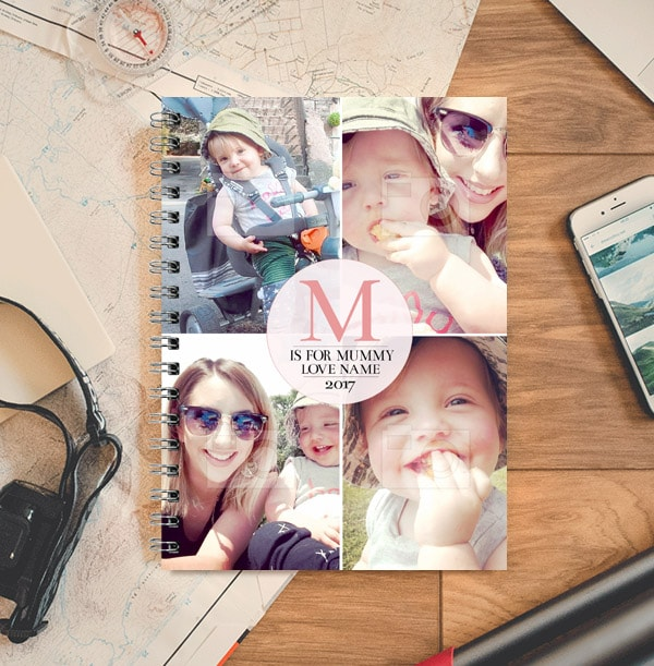 M is for Mummy Initial Photo Collage Notebook
