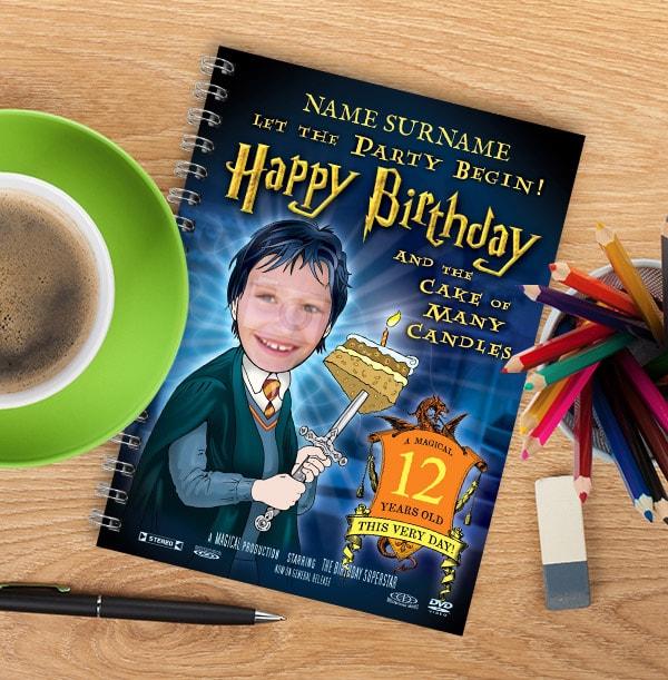 Magic Wizard Personalised Birthday Notebook