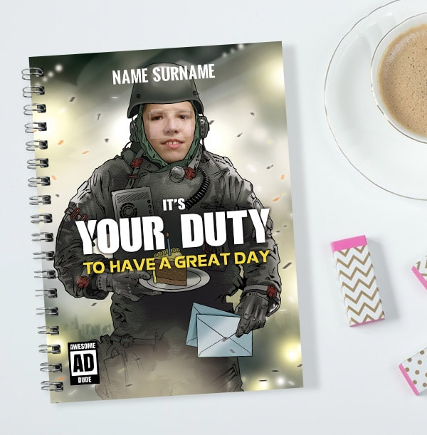 Personalised Gaming Notebook, It's Your Duty