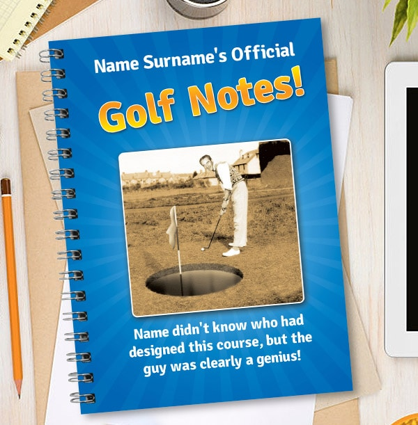 Funny Golf Personalised Notebook