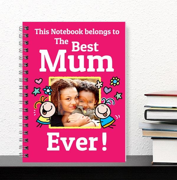 Best Mum Ever Photo Notebook, Pink