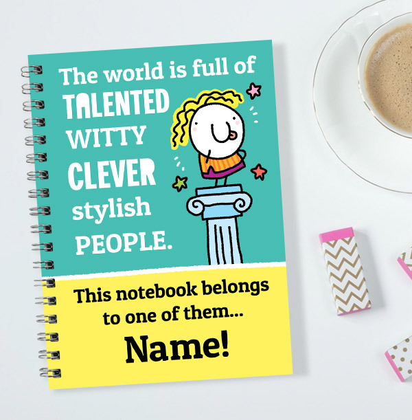 Clever, Witty, Talented Personalised Notebook
