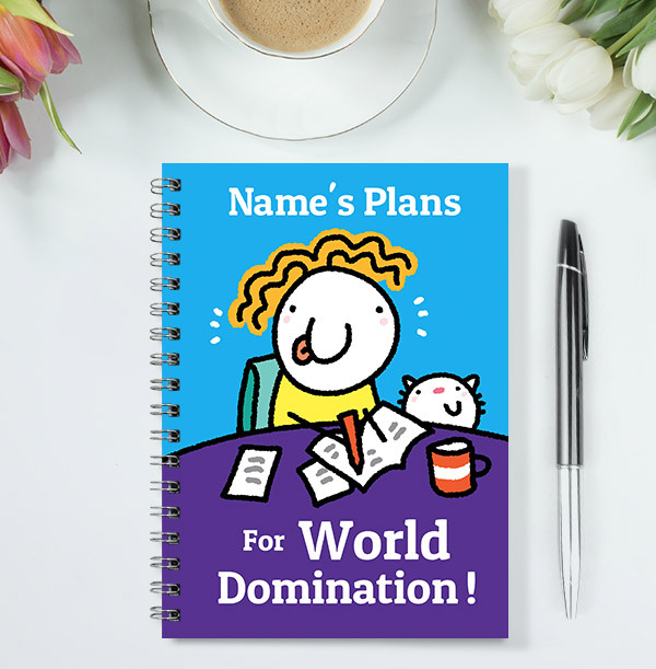 Plans for World Domination Personalised Notebook