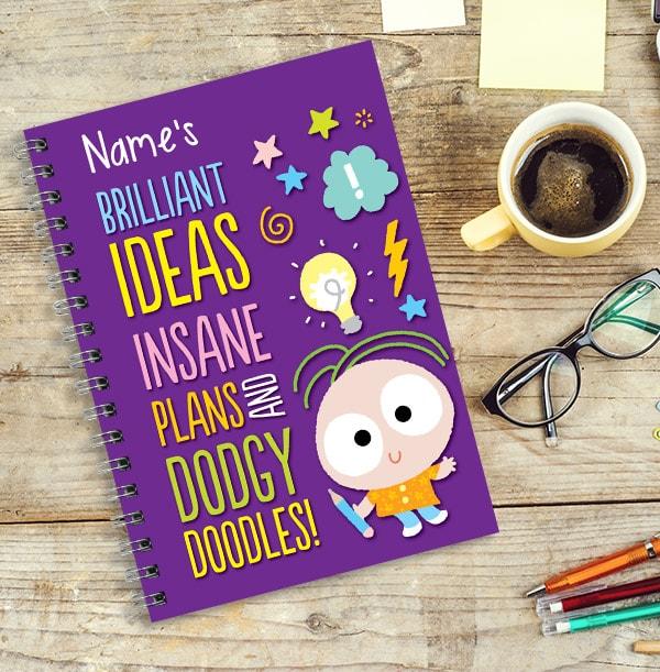 Insane Plans Personalised Cartoon Notebook