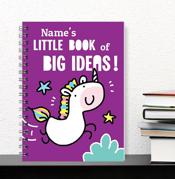 Big Ideas Personalised Cartoon Notebook, Purple