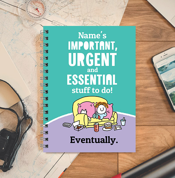 Important Stuff To Do Personalised Notebook, Cartoon