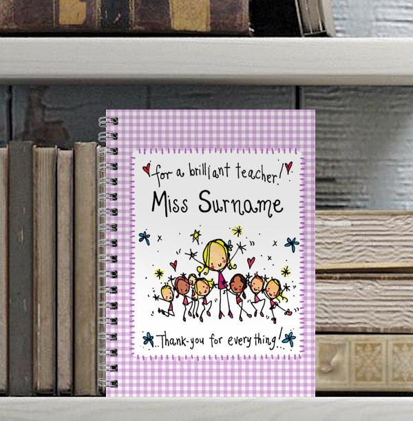 Brilliant Teacher Personalised Notebook, Juicy Lucy