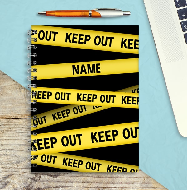 Keep Out Personalised Notebook