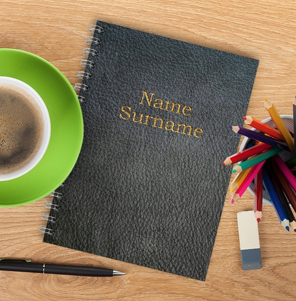 Personalised Leather Look Name Notebook