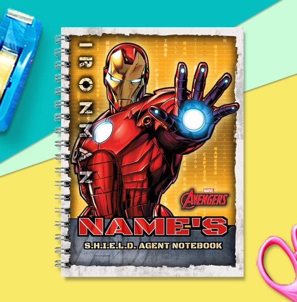 Iron Man Personalised Notebook