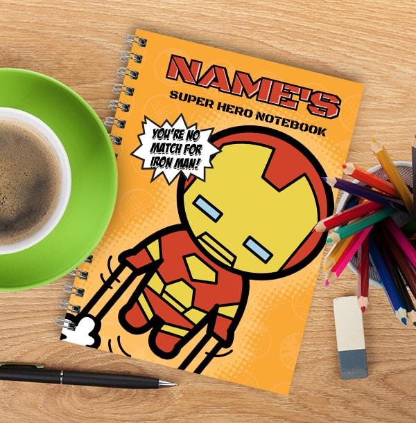 Personalised Mini Iron Man Notebook - Marvel Kawaii