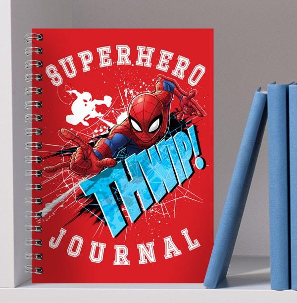 Spiderman Notebook - Personalised Superhero Journal