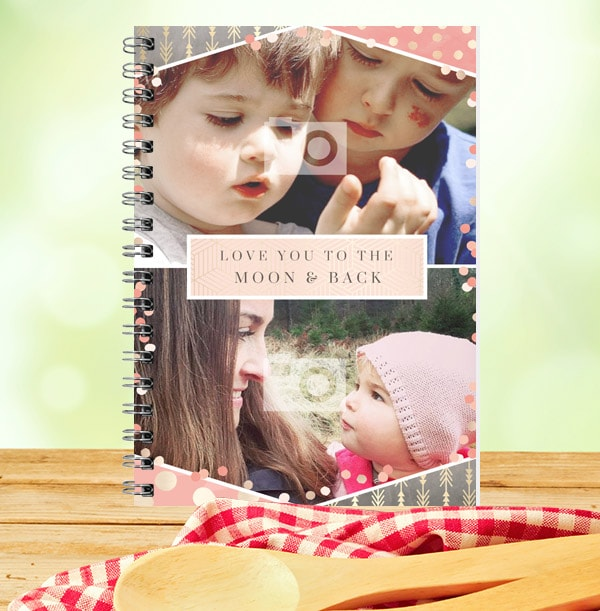 To The Moon & Back Multi Photo Notebook