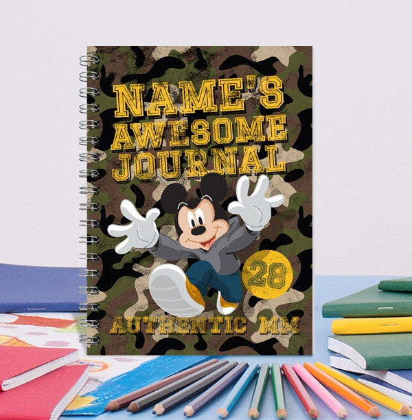 Mickey Mouse Awesome Personalised Notebook
