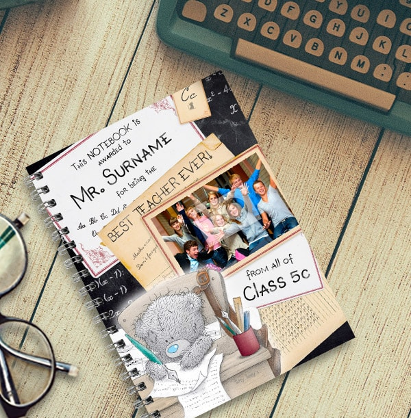 Me to You Best Teacher Photo Notebook