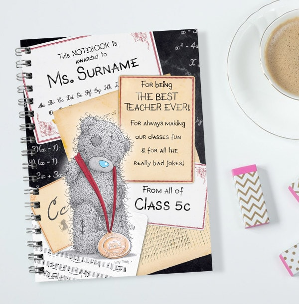 Me to You Best Teacher Personalised Notebook