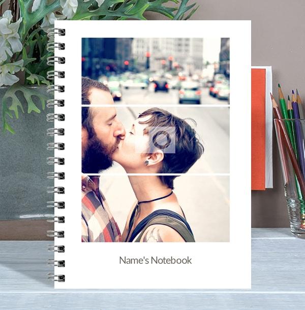 Triptic Photo Upload Notebook