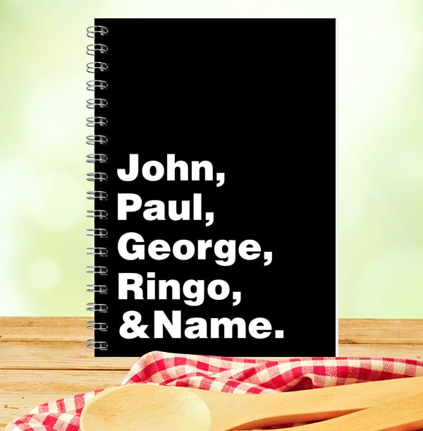The Beatles & Name Personalised Notebook
