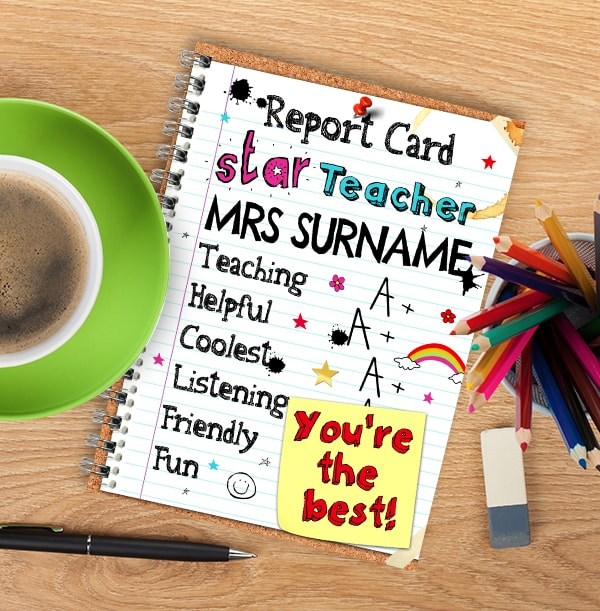 Star Teacher A+ Personalised Notebook