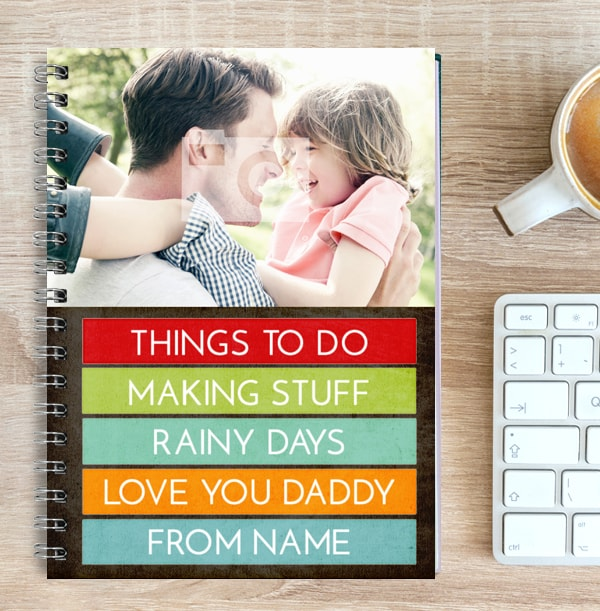 Colourful Quote Photo Notebook For Dad