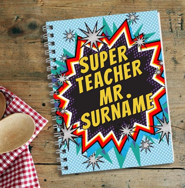 Super Teacher Personalised Notebook