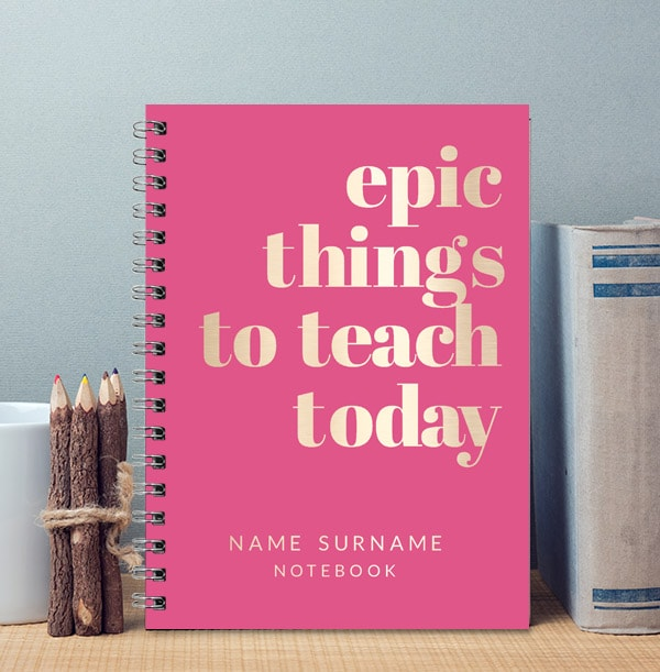 Epic Things To Teach Personalised Teacher Notebook