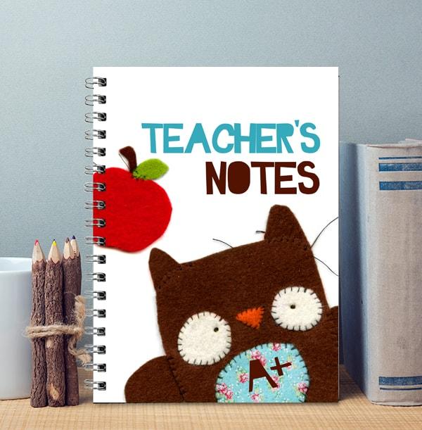 Personalised Owl Teacher Notebook