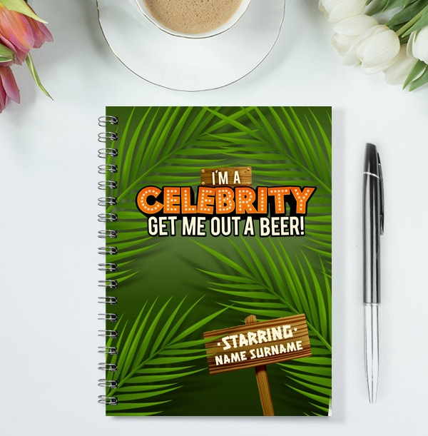 Get Me Out A Beer Funny Personalised Notebook
