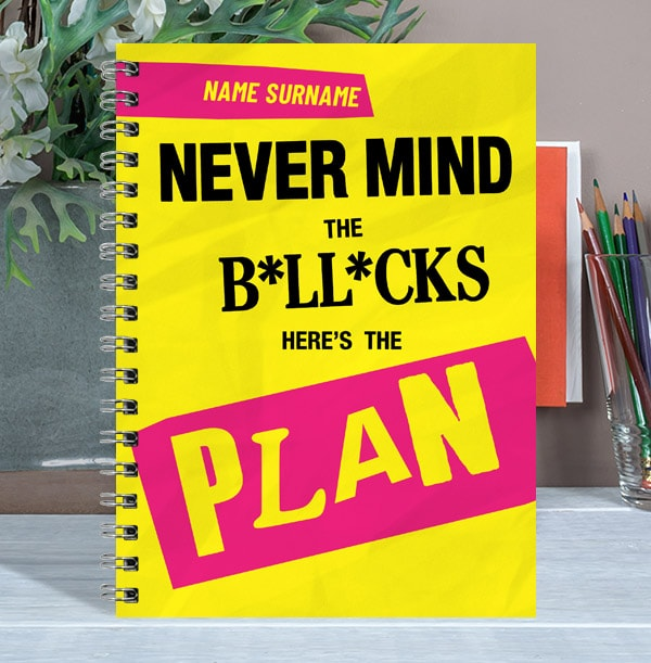 Here's The Plan Rude Personalised Notebook