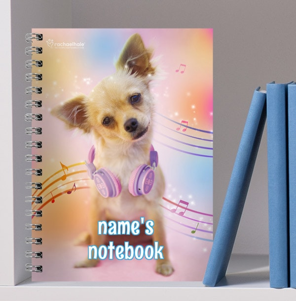 Chihuahua Personalised Notebook, Musical