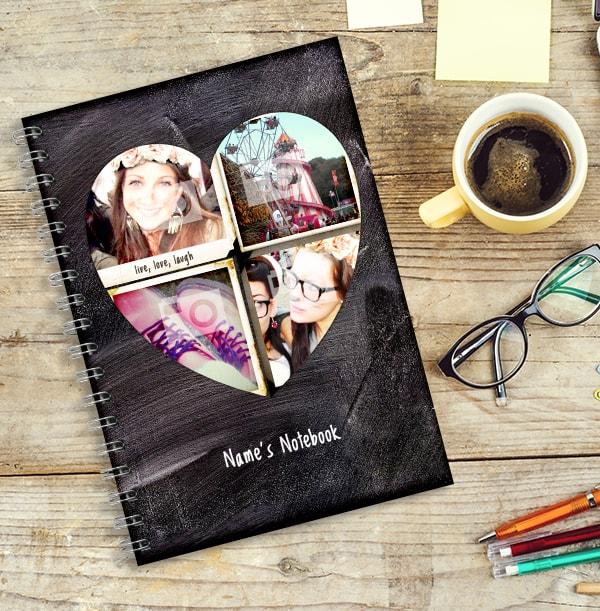 Love Heart Chalkboard Photo Notebook