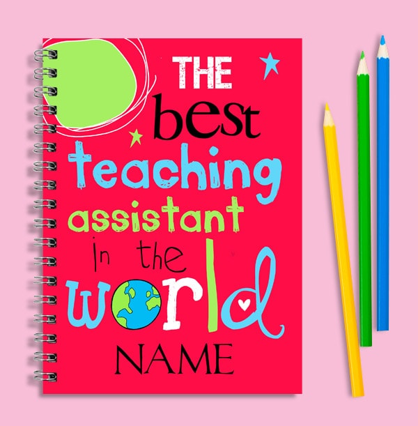 Best Teaching Assistant in the World Notebook, Personalised
