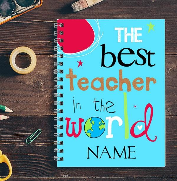 Best Teacher In The World Name Notebook