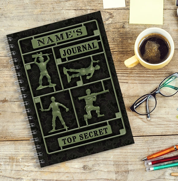Toy Story Green Army Man Personalised Notebook