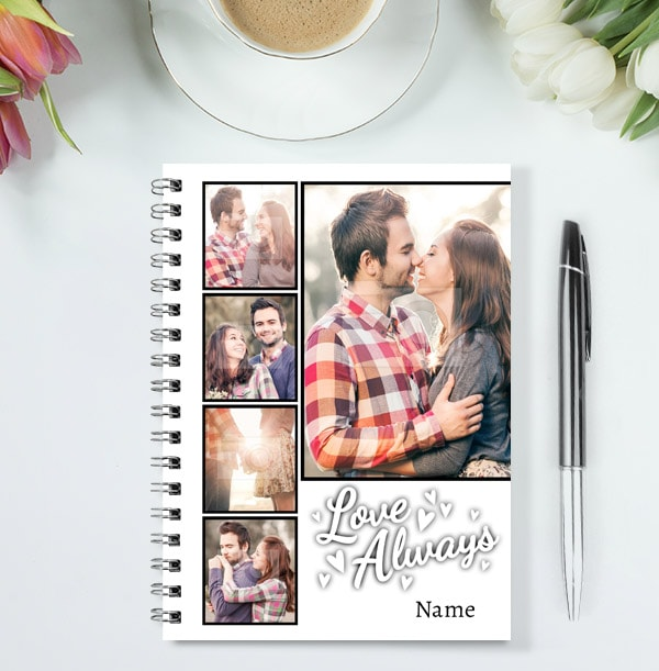 Love You Always Romantic Collage Notebook