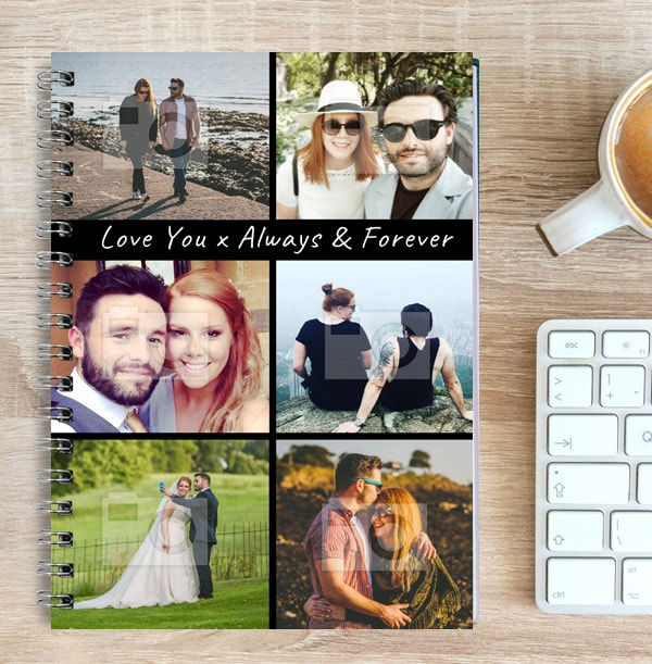 6 Photo Collage Romantic Notebook