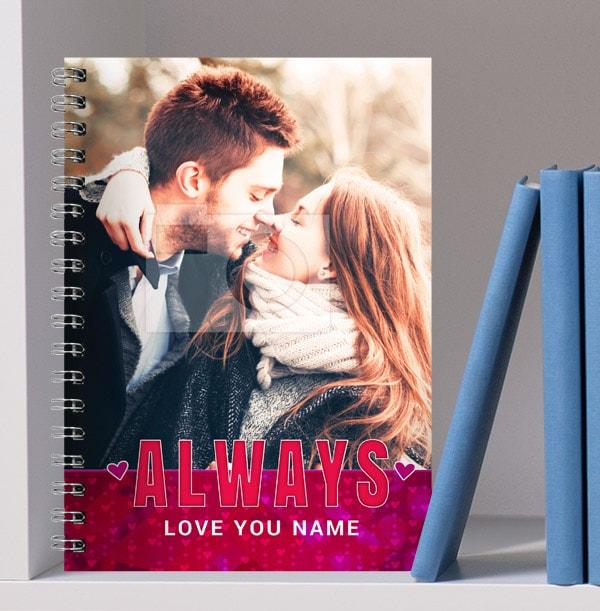 Romantic Always Love You Photo Notebook