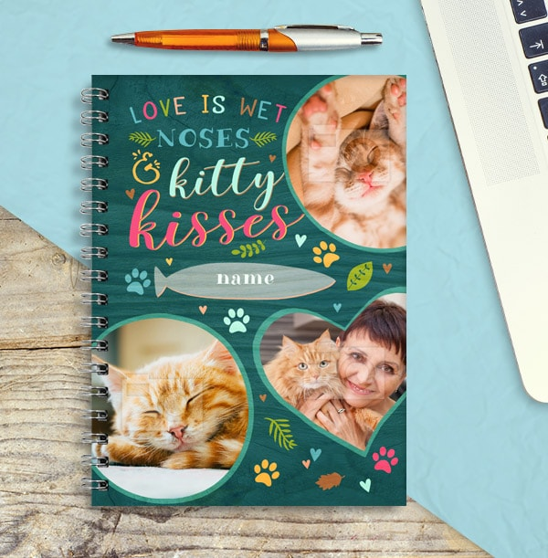 Photo Collage Personalised Cat Notebook