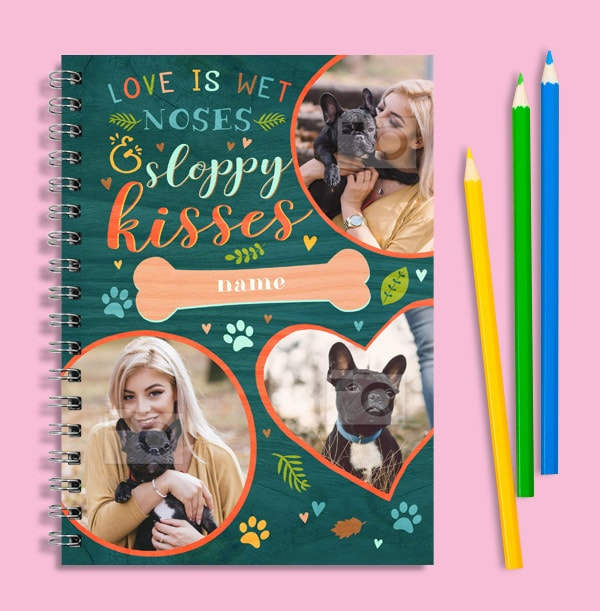 Photo Collage Personalised Dog Notebook
