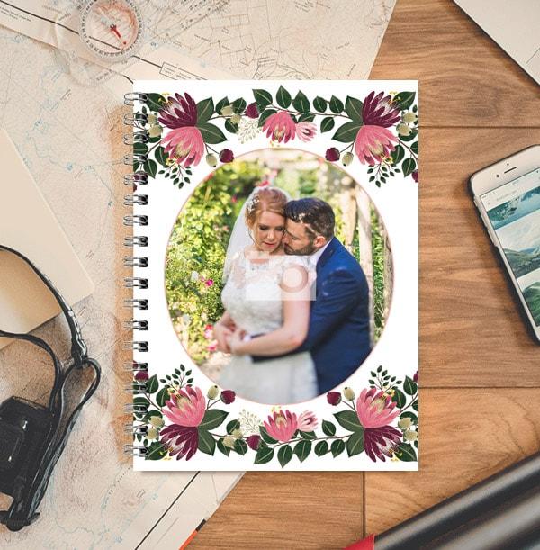 Floral Single Photo Upload Notebook