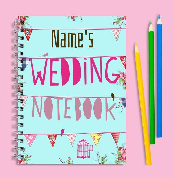 Floral Personalised Wedding Notebook